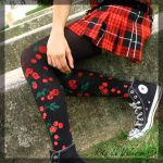 cherry tights. by cottonxcandy