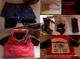 Claire Redfield Cosplay WIP by Roselinath