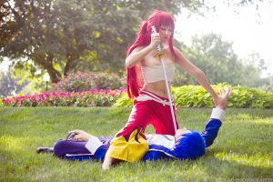 Erza Fights Jellal #2 by firecloak