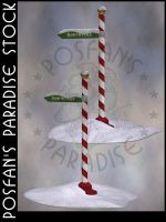 North Pole Sign 003 by poserfan-stock
