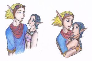 Jak and Keira by iamIra