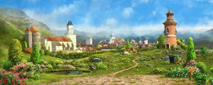 Medieval village1_day by inSOLense