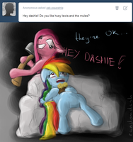 Ask Equestria: Huey Lewis and The Mules by RandomDash