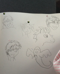Left handed drawing contest by CaliforniaHunt24