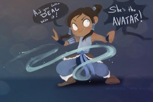 Korra Sketch by MarionetteDolly