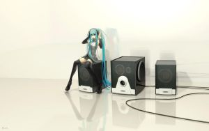 Miku Hatsune - speakers by EwaLabak
