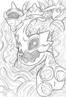 Dark Gaia's Influence (Sketch) by Th3AntiGuardian