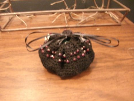 Black Spiral Dice Bag by lovely-tangles