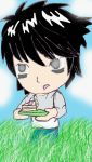 Chibi L with Cake by Switchfoot101