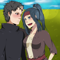 COMMISSION: Shisui and Ayumi by iza-chan