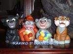 Jungle book cubs squeak figures by RakikoHime