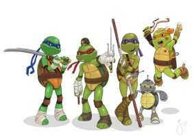 Teenage Mutant Ninja Turtles (TMNT) by fllamjr