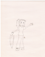 Person sketch, myself in my own drawn form~ by ChibiMousey