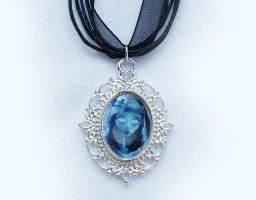 Corpse Bride - Silver Plated Cameo Necklace by DeadLulu
