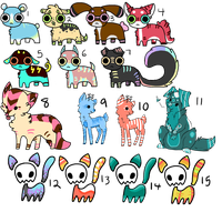 15 Cheap Point Adopts ..::OPEN 13/15::.. by love-the-adopts