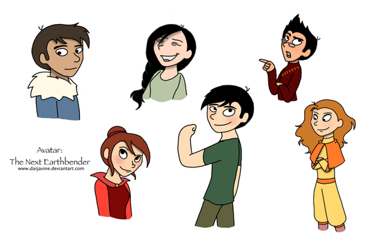 Avatar: The Next Earthbender Cast (Colored) by Darjavine