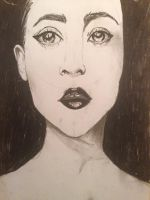 Charcoal practice by KimikoAix