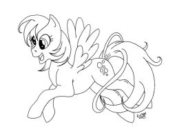 Derpy Hooves Lineart by Karla-Chan