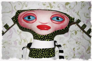 painted plushie doll by inkcat