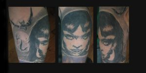 Vampirella tattoo wip by guillotinemaster75