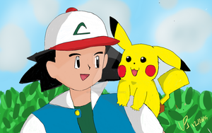 Ash's and Pikachu's Bonding Time! by Doodles1996