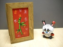 panda zombie dunny with coffin by anthonyDeVito