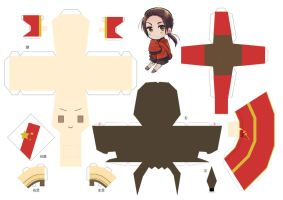 Chara CD China Papercraft by arcelian