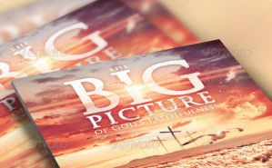 The Big Picture Church Flyer and CD Template by loswl