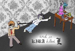 DeathNote- and Kira killed L by Beautelle
