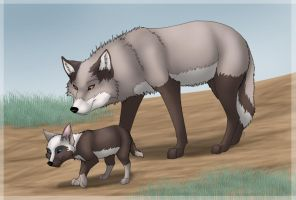 AT: Toccara and Puccra by TukaTheWolf