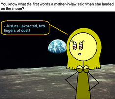 Mother-in-law on the moon by TheAdamBryant