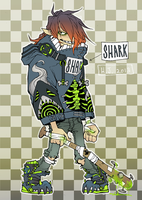Toxic Shark design (closed) by HJeojeo