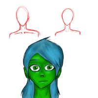 Practice makes perfect - Shading and Collarbones by The-Booboochus