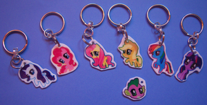 MLP:FIM Keychains by IcyPanther1