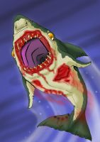 Zombie Shark by Cannibal-Cartoonist