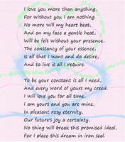Valentine poem to a strong love by EternalFireOfDeath