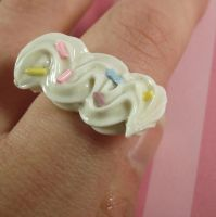 Kawaii Whipped Cream Ring by FatallyFeminine