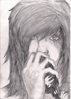 andy sixx portrait by AnimeAngel4u