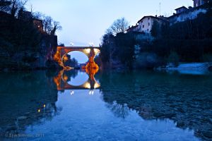 Cividale, the Devil's Bridge. by eriksimonic