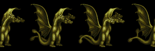 Gidorah Sprite sheet-beginnings by LostPlumber-Tman1593