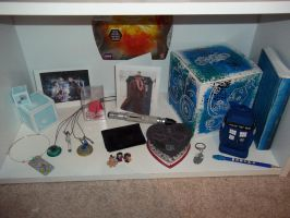 Doctor Who shelf-2 by DragonsAndDreamscape