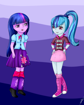 Twilight Sparkle x Sonata Dusk (Request) by sobloom