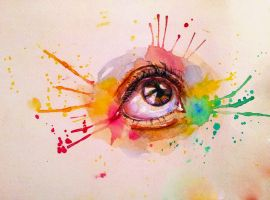 First Time WaterColor painting by Salma-H