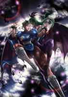 Chun Li x Morrigan Revamp by magion02
