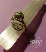 Fool's Gold Wire Wrapped Ring by WireMoonJewelry