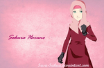 Sakura in Abaya with background by Sasu-Sakuu