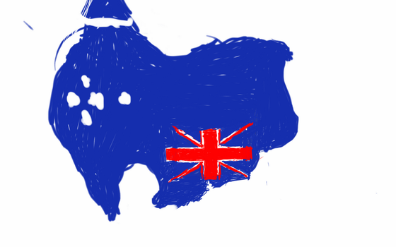 upside down Australia flag map by UNPSTcommandermark