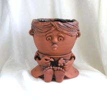 Girl - from 'Sad pots' series by valvish