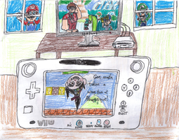 Wreck-It Ralph takes over the Wii U by PuffyTopianMan