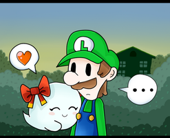 luigi Y Bow by marshie-chan